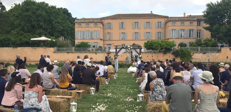cérémonie chateau ayguebelle